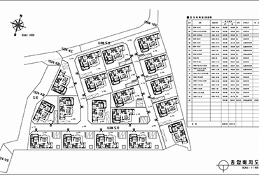 Town house complex layout in Yongin